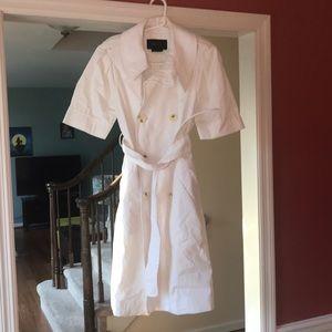 BCBG Max Azria short sleeved white coat